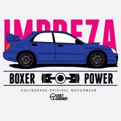 Dámské tričko s potiskem Subaru Impreza: Boxer Power