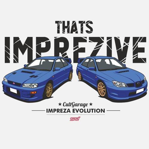 Dámské tričko s potiskem Subaru Impreza: Imprezive 1