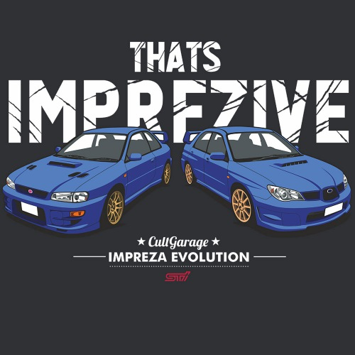 Pánské tričko s potiskem Subaru Impreza: Imprezive 2