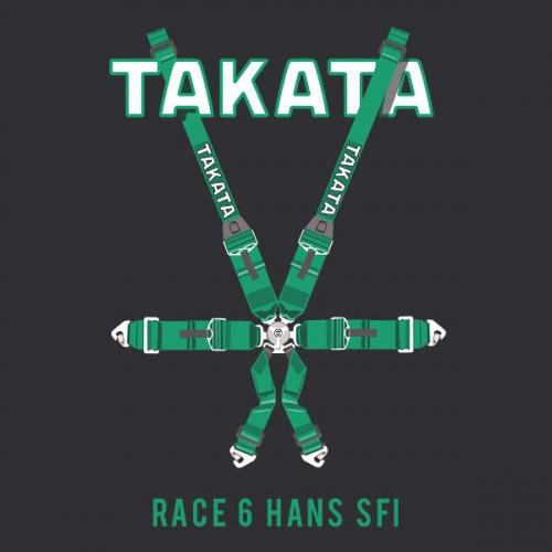 Dámské tričko s potiskem Takata Race 6 Hans SFI
