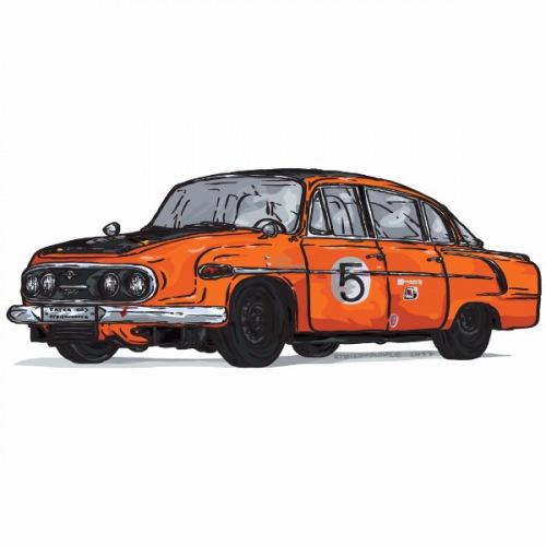 Dámské tričko s potiskem Tatra 603 Race