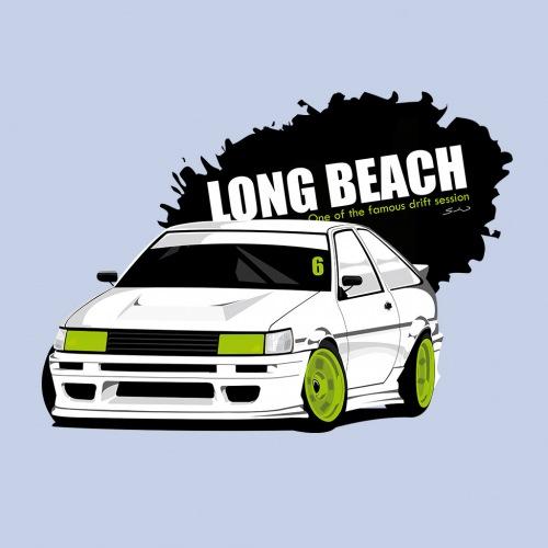 Dámské tričko s potiskem Toyota Corolla AE86 Levin