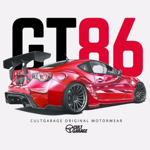 Pánské tričko s potiskem Toyota GT86: Handdrawn