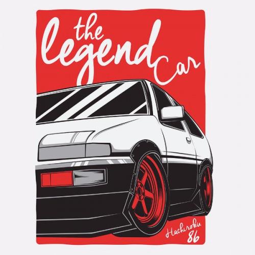 Dámské tričko s potiskem Toyota Corolla AE86 Trueno