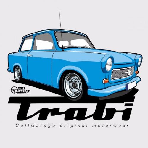 Dámské tričko s potiskem Trabant modrý 1