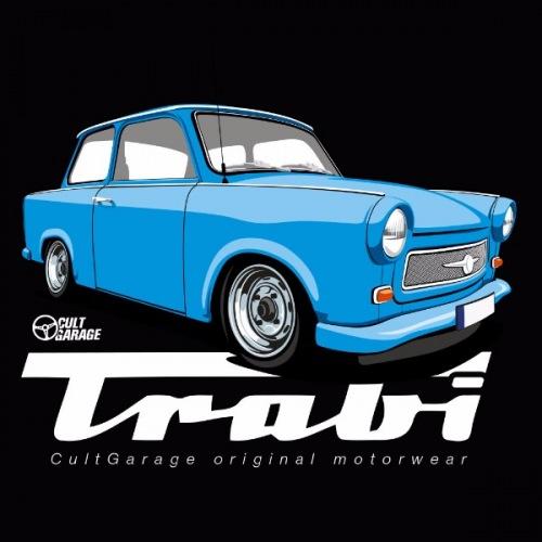 Dámské tričko s potiskem Trabant modrý 2