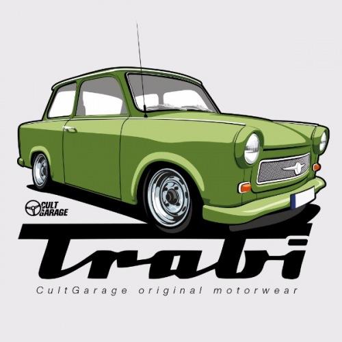 Pánské tričko s potiskem Trabant zelený 1