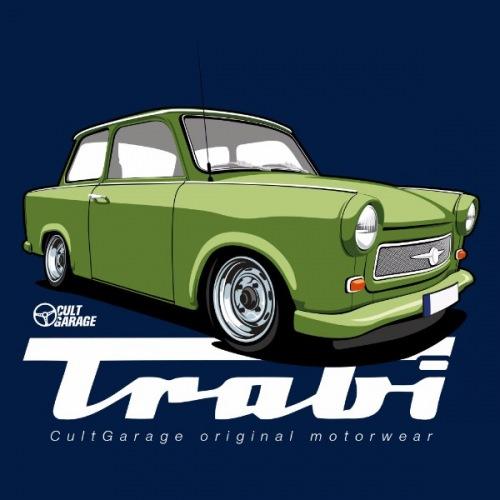 Dámské tričko s potiskem Trabant zelený 2