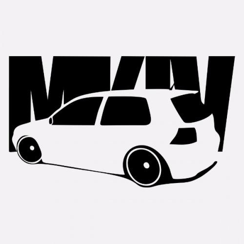 Dámské tričko s potiskem VW Golf 4 GTI 1