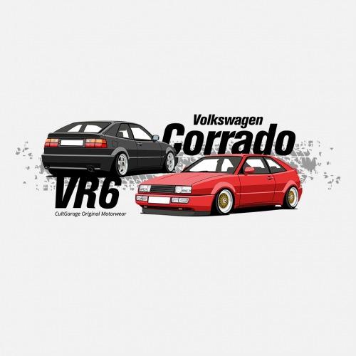 Dámské tričko s potiskem VW Corrado černá 1