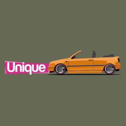 Dámské tričko s potiskem VW Golf III Cabrio: Oranžový
