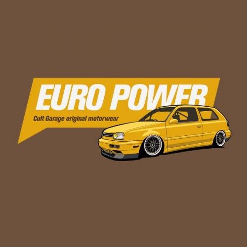 Dámské tričko s potiskem VW Golf 3 Europower