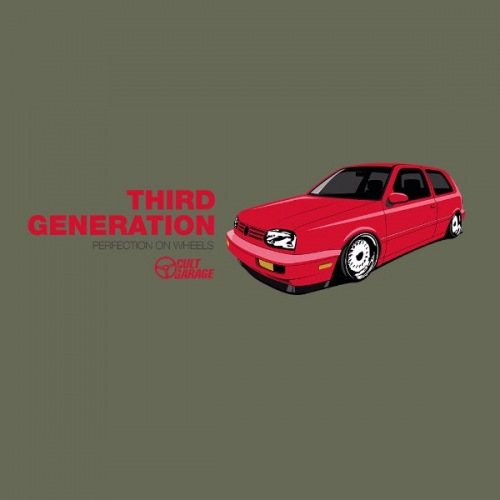 Dámské tričko s potiskem VW Golf 3: Third Generation 1