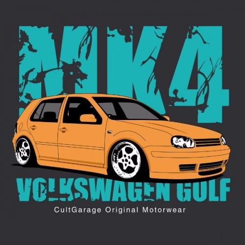 Pánské tričko s potiskem VW Golf Golf 4 žlutá 2