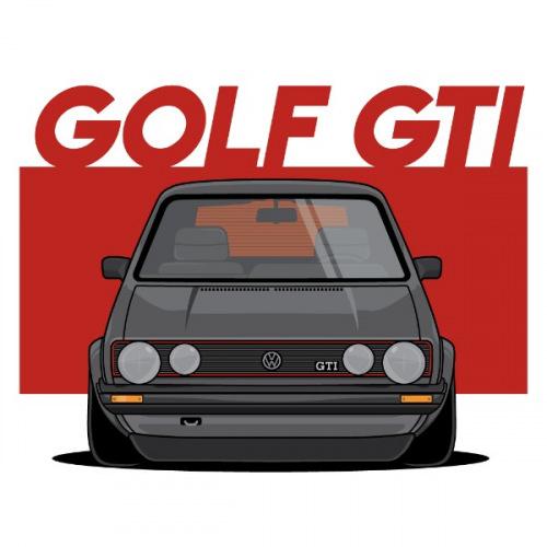 Dámské tričko s potiskem VW Golf MK1 GTI front