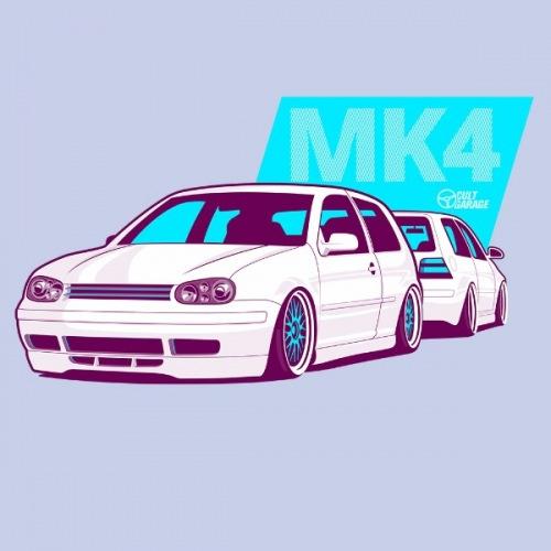 Pánské tričko s potiskem VW Golf 4