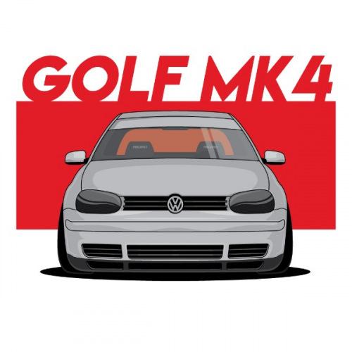 Dámské tričko s potiskem VW Golf MK4 front