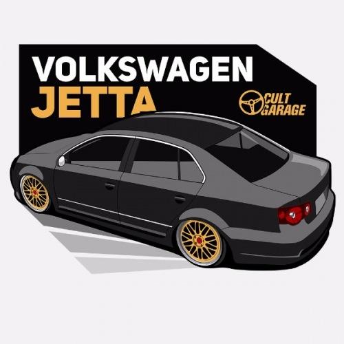 Dámské tričko s potiskem VW Jetta A5 černá 1