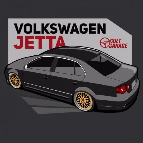 Dámské tričko s potiskem VW Jetta A5 černá 2