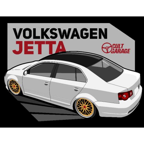 Dámské tričko s potiskem VW Jetta A5 bílá 1