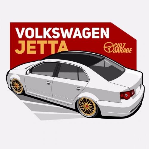 Dámské tričko s potiskem VW Jetta A5 bílá 2