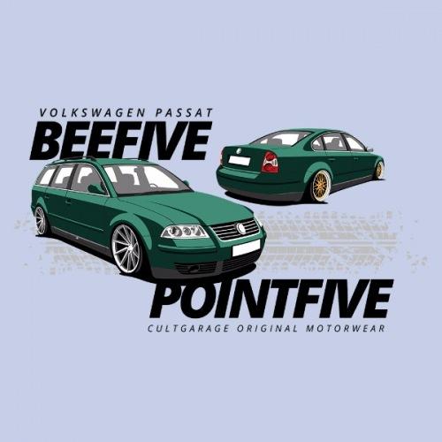 Dámské tričko s potiskem VW Passat B5.5 zelený 1