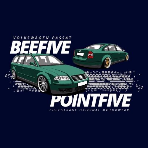 Dámské tričko s potiskem VW Passat B5.5 zelený 2