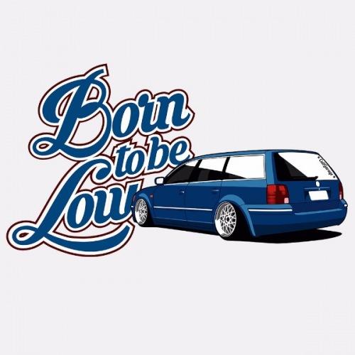 Dámské tričko s potiskem VW Passat B5 modrý