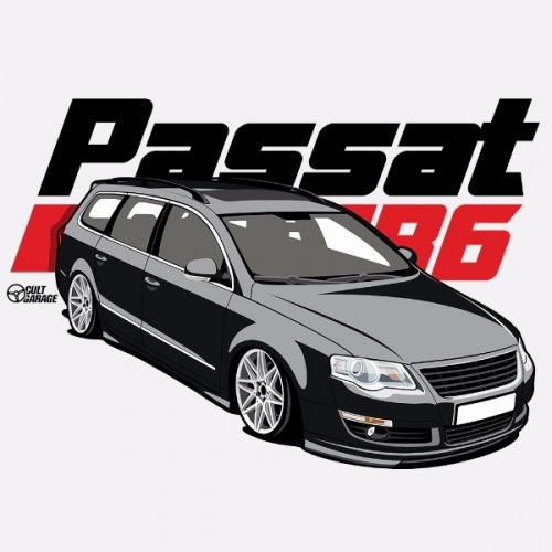 Dámské tričko s potiskem VW Passat B6 černý 1