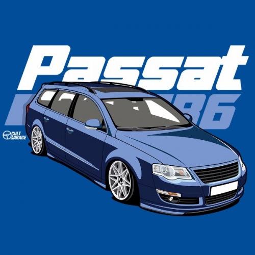 Dámské tričko s potiskem VW Passat B6 modrý 2