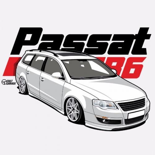 Dámské tričko s potiskem VW Passat B6 bílý 1