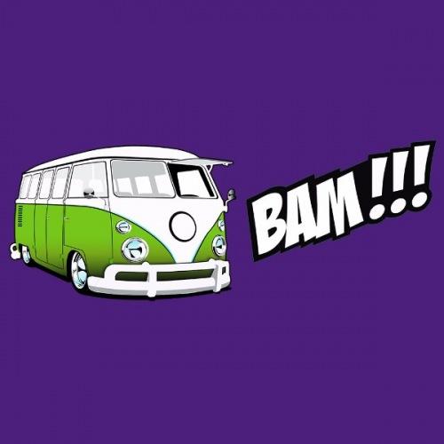 Pánské tričko s potiskem VW Transporter 1: Bam! Zelený