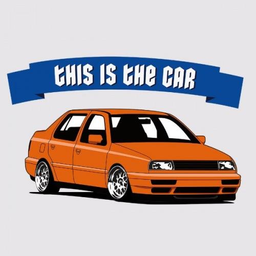 Pánské tričko s potiskem VW Vento: This is Car Oranžové