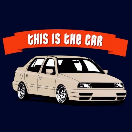 Pánské tričko s potiskem VW Vento: This is Car Béžový