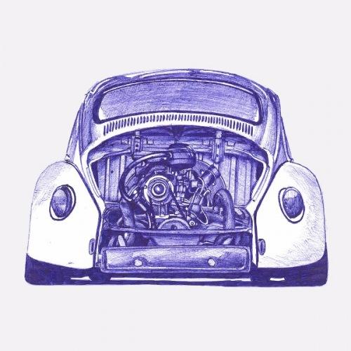 Pánské tričko s potiskem VW Beetle - Bug