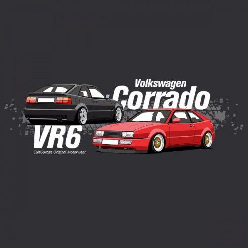 Dámské tričko s potiskem VW Corrado černá 2