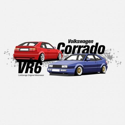 Dámské tričko s potiskem VW Corrado modrá 1