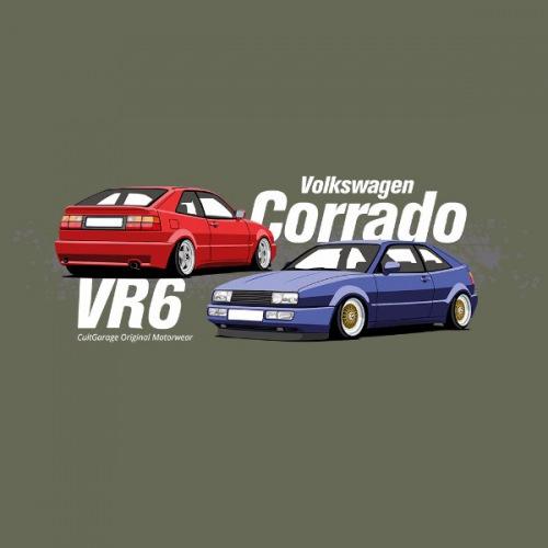 Dámské tričko s potiskem VW Corrado modrá 2