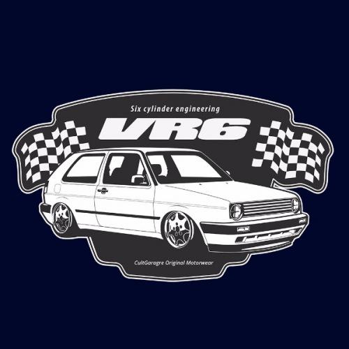 Dámské tričko s potiskem VW Golf II VR6 Six Cylinder