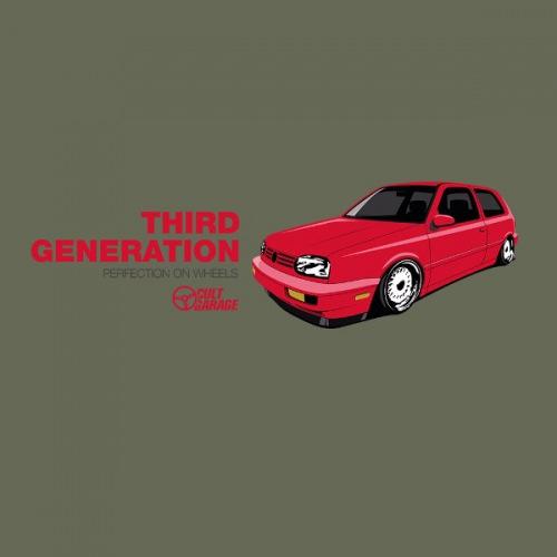 Pánské tričko s potiskem VW Golf 3: Third Generation 1