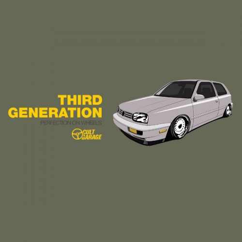 Dámské tričko s potiskem VW Golf 3: Third Generation 2