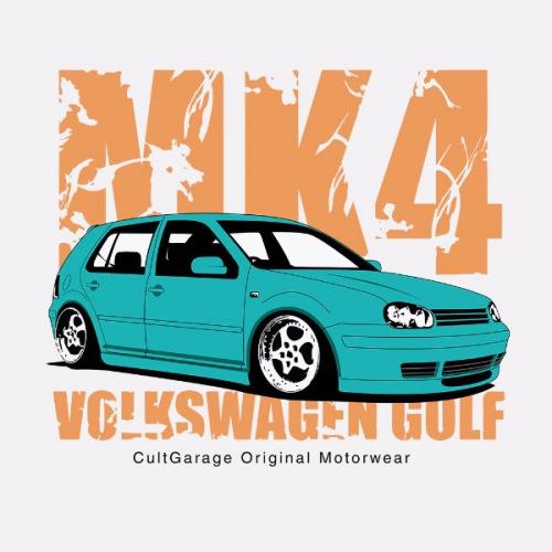 Dámské tričko s potiskem VW Golf 4 modrá 1