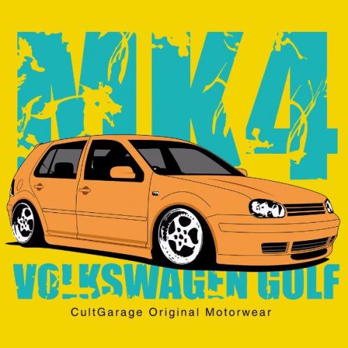 Dámské tričko s potiskem VW Golf Golf 4 žlutá 1
