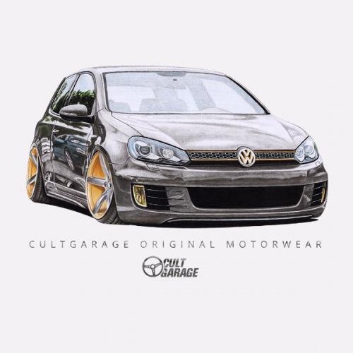 Dámské tričko s potiskem VW Golf 6: Handdrawn