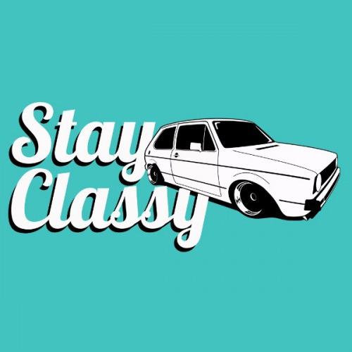Pánské tričko s potiskem VW Golf 1 bílý