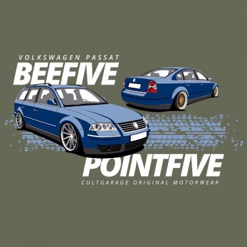 Dámské tričko s potiskem VW Passat B5.5 modrý 2