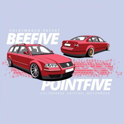 Dámské tričko s potiskem VW Passat B5.5 červený 2