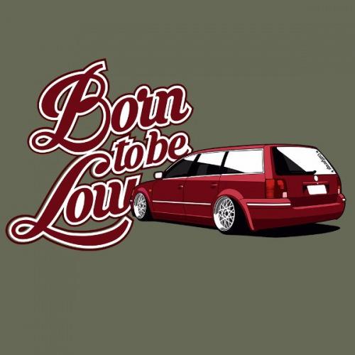 Dámské tričko s potiskem VW Passat B5 červený