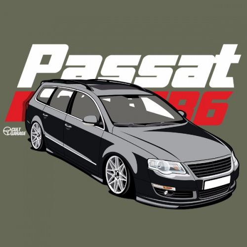 Dámské tričko s potiskem VW Passat B6 černý 2