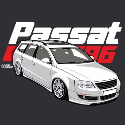 Dámské tričko s potiskem VW Passat B6 bílý 2